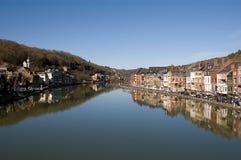 Flussuferstadt Stockfoto