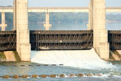 Flussverdammung Gandhinagar - Indien Lizenzfreie Stockfotografie