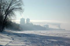 Flussvolga-Küste im Samara, Russland Lizenzfreies Stockfoto