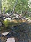 Flusswandern Sedona Arizona ruhig stockfotografie