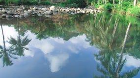 Flusswasser ist sehr klar Lizenzfreie Stockfotos