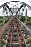 Flusszugbrücke Stockfoto