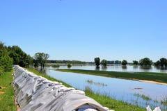 Flut auf der Elbe Lizenzfreie Stockfotografie