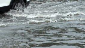 Flut auf Straße stock video