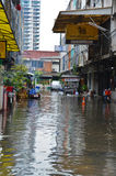 Flut in Bangkok 2012 Stockbild