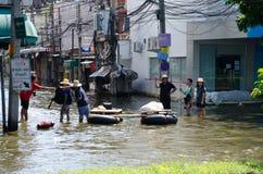 Flut in Bangkok, Thailand stockfotografie