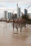 Flut in Deutschland stockbild