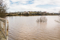 Flut - ein natürliches Phänomen Verschütteter See Lizenzfreies Stockbild