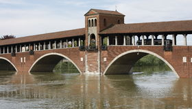 Flut in Pavia Stockfotos
