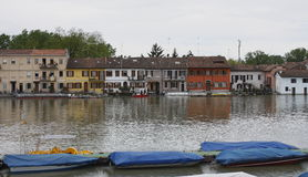 Flut in Pavia (Borgo Ticino) Stockfotografie