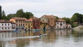 Flut in Pavia (Italien) Stockbild