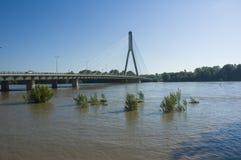 Flut in Polen - Warschau Stockbilder