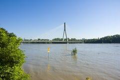 Flut in Polen - Warschau Lizenzfreie Stockfotos