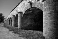 Flutbrücke bei Louny Stockfotografie