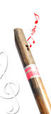Flute. Wooden flute against in white background Royalty Free Stock Photos