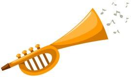 Flute. Illustration of isolated cartoon flute on white background Royalty Free Stock Photo
