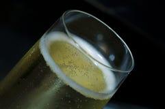 Flute. Sparkling white wine in flute glass for celebration Stock Photo