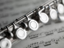 Free Flute And Music Score Stock Photography - 21315392