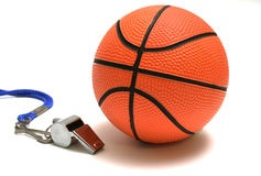 Flute and basketball Stock Photos