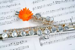 Free Flute Between Dots Royalty Free Stock Images - 5685889