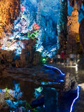 Flute cavern in Guiling. China Stock Photography