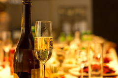 Flute of chilled sparkling champagne Royalty Free Stock Photo