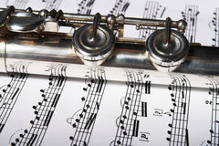 Flute Classic music concept Royalty Free Stock Photos
