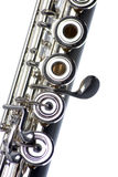 Flute Close-up Isolated On White Stock Image