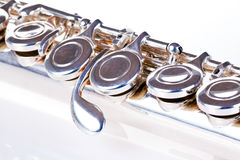 Flute closeup. Isolated on white background Royalty Free Stock Photo