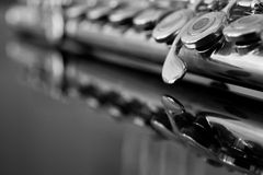 Flute fragment. In black and white Royalty Free Stock Photo