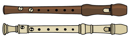Flute. Hand drawing of two flutes Royalty Free Stock Photos