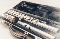 Flute instrument stock photo