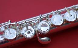 Flute keys Stock Photo