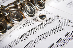 Flute - music background Royalty Free Stock Photography