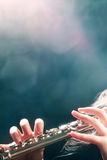 Flute music concert Royalty Free Stock Images