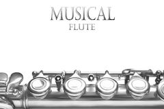 Flute musical instrument Stock Images