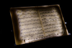 Flute notes of the music rest Royalty Free Stock Images