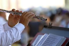 Flute player Royalty Free Stock Photos