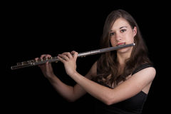 Flute Player #2 Stock Photography