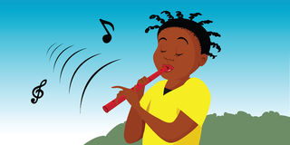 Flute player Royalty Free Stock Images