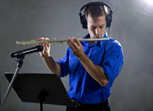 Flute Player Stock Photography