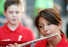 Flute Player Royalty Free Stock Photography
