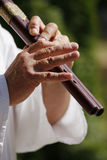 Flute playing Royalty Free Stock Image