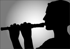Flute playing Royalty Free Stock Photos