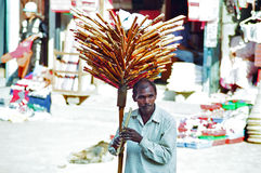 Flute Seller, Kathmandu Nepal stock photography