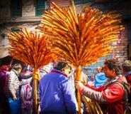 Flute seller in Kathmandu,Nepal Royalty Free Stock Photos