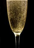 Flute with sparkling champagne Stock Photo