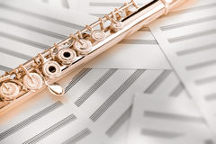 Flute/Upper Middle Joint/14 K Rose Gold Stock Photos