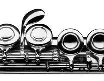 Flute on white background Royalty Free Stock Photos