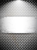 Fluted metal background. Royalty Free Stock Photography